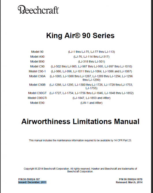 King Air 90 Sample Front