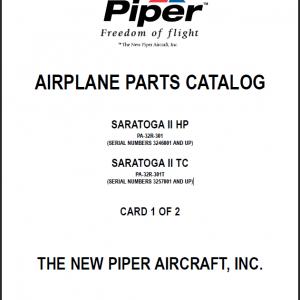 Piper PA-32R Saratoga Parts Catalog Manual