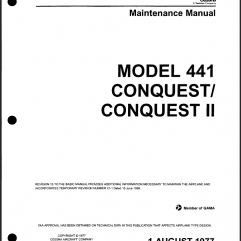 Cessna 441 Manuals IPC and AMM