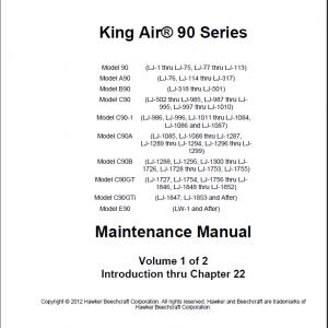 King Air 90 Maintenance Manual