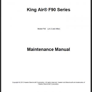 King Air F 90 Aircraft Maintenance Manual