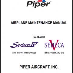 Piper Seneca IV and V Manuals
