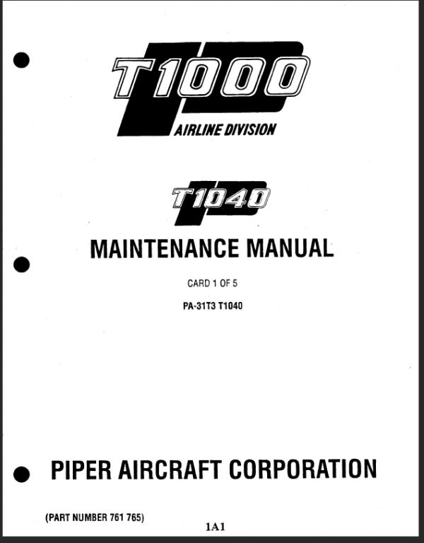 Piper Cheyenne Manuals