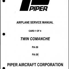 Piper Twin Comanche Manuals