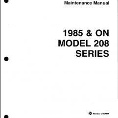 Cessna 208 Caravan Maintenance Manual