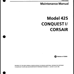 Cessna 425 Conquest I Aircraft Manuals Download